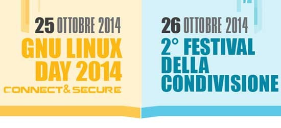 GNU/LINUX DAY - FESTIVAL DELLA CONDIVISIONE